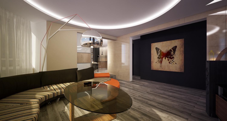 Дизайн просторной гостиной в квартире 2