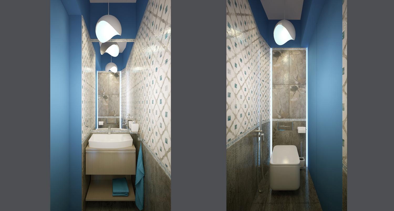 Дизайн ванной комнаты с душевой 2