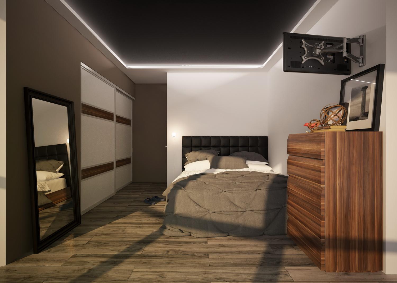 Современный дизайн спальной комнаты 2