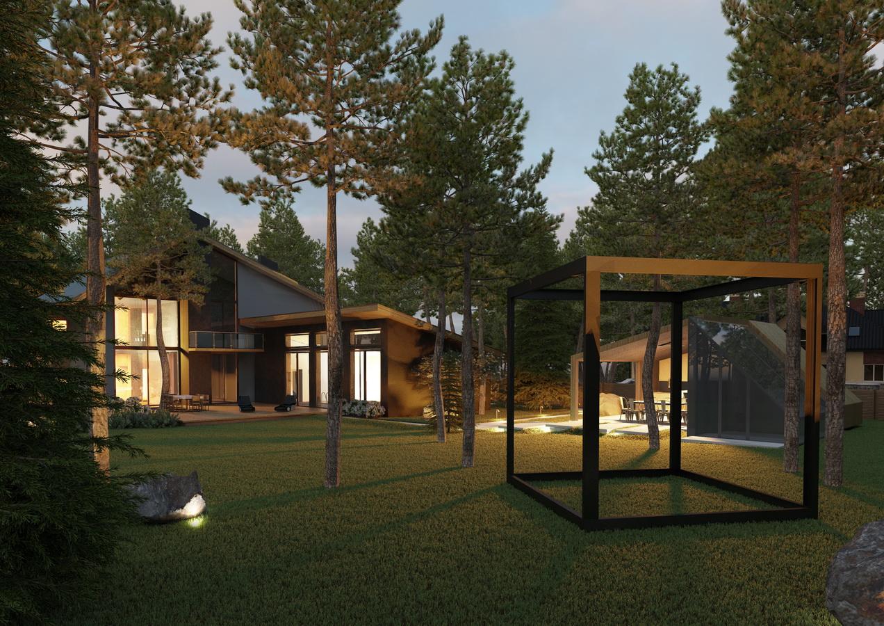 Проект дома из бруса для узкого участка