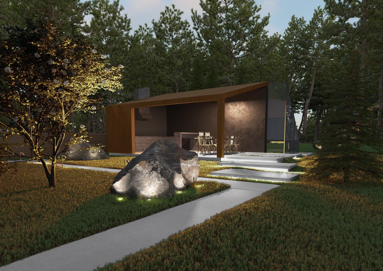 Проект участка загородного дома