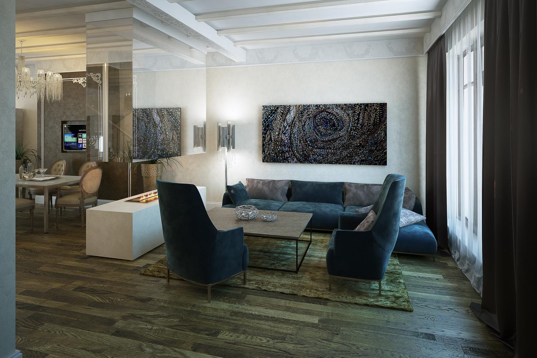 Фото уютной гостинной комнаты