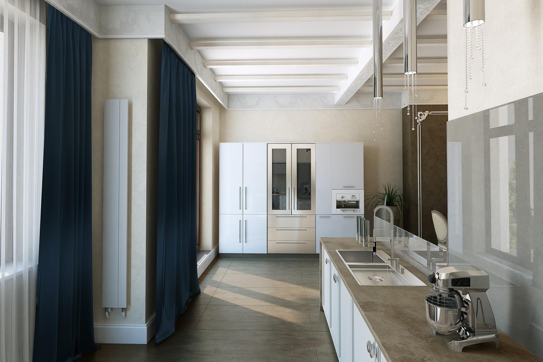 Фото просторной кухни в доме