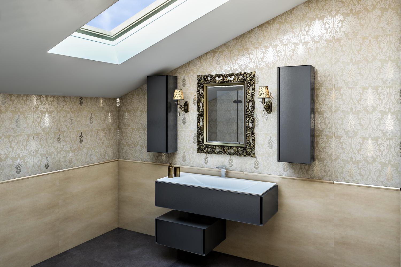 Бежевая ванная комната 1
