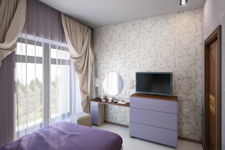 Дизайн светлой спальни 1