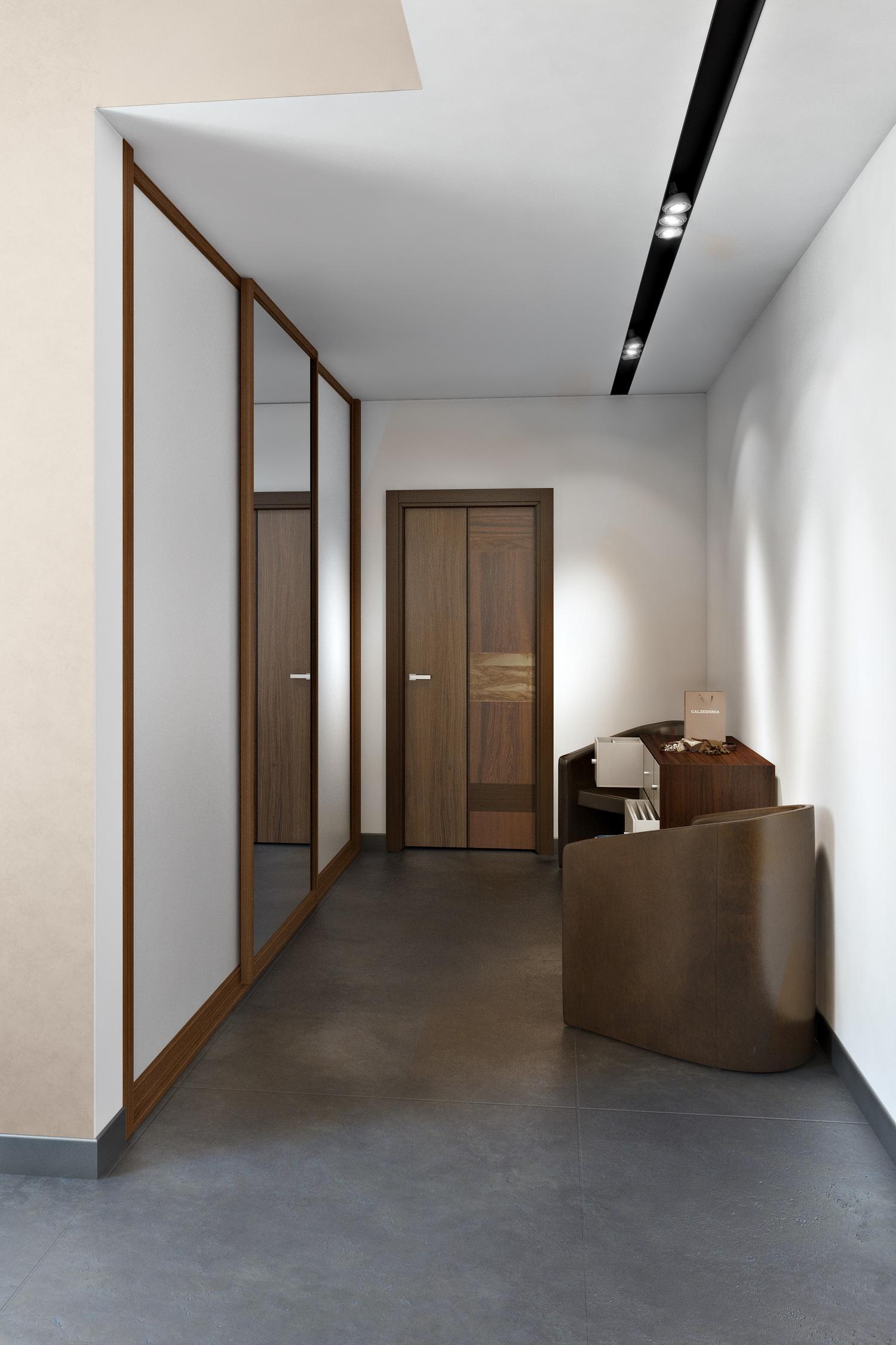 Дизайн белого коридора