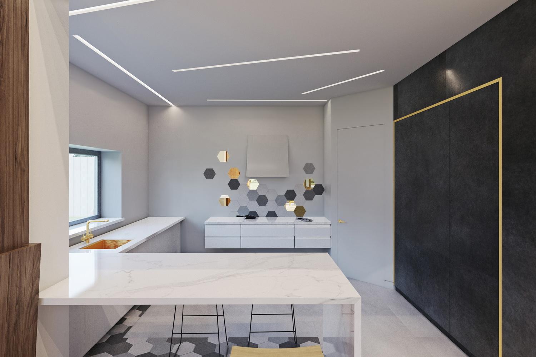 Дизайна просторной кухни фото