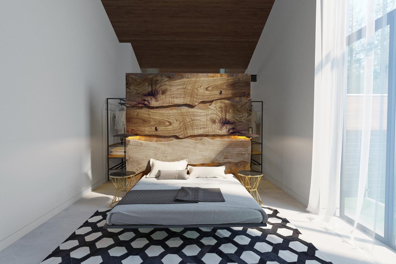 Оригинальный дизайн спальни фото